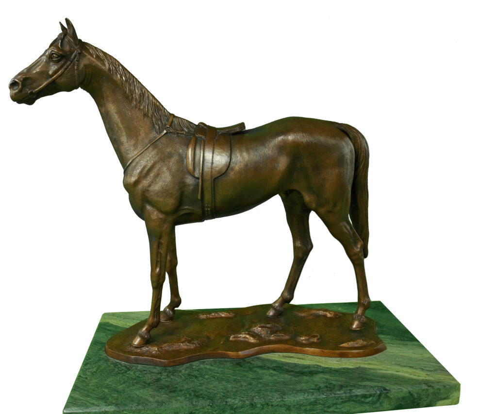Rzeźba Koń Angielski Autorskie Dzieło Sztuki