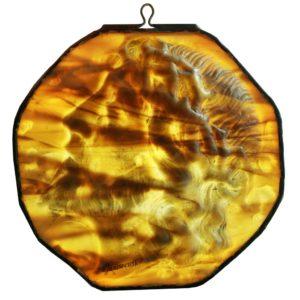 Płaskorzeźba CHRYSTUS ze szkła witrażowego Tiffany USA