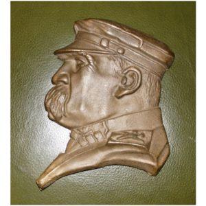 Józef Piłsudski - płaskorzeźba z brązu