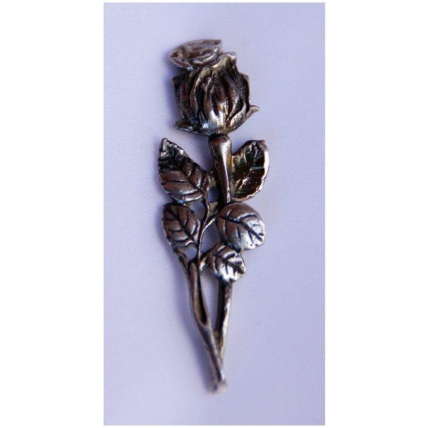 Broszka ze srebra Róża Autorskie Dzieło