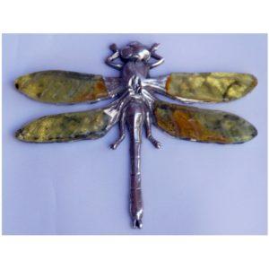 Ważka - Autorska broszka ze srebra i Bursztynu Bałtyckiego