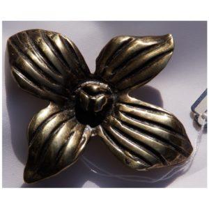 Kwiat Lotosu – Autorska broszka z mosiądzu patynowanego